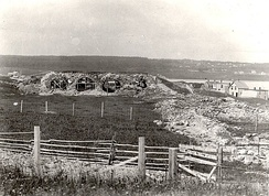 The initial focus of the program was strictly on commemoration rather than preservation or restoration.  The ruins of the Fortress of Louisbourg were designated in 1920, but efforts to restore the fortress did not commence until 1961.[19]