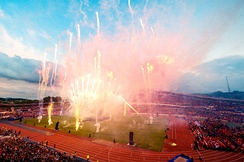 Fireworks at the opening ceremony of Gothia Cup