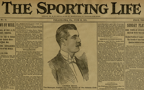 Wood on front page of The Sporting Life, June 20, 1891