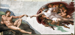 The Creation of Adam, from the Sistine Chapel ceiling, by Michelangelo, c. 1511