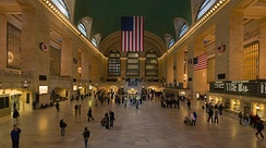 Grand Central Terminal in New York City is the largest station by number of platforms, with 44 on two levels.