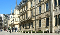 The Grand Ducal Palace in Luxembourg City, the official residence of the Grand Duke of Luxembourg