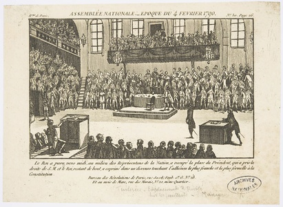 Meeting of the National Assembly (February 4, 1790)