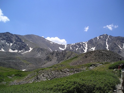 Grays Peak in Colorado is the highest point on the Continental Divide in North America.