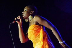 India Arie performing in Lokeren Belgium, August 3, 2004