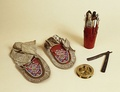 Nightingale's moccasins that she wore in the Crimean War
