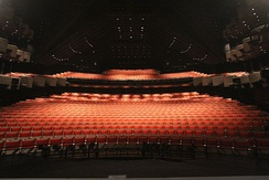 View from the stage of the Joan Sutherland Theatre.