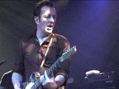 Joe Strummer concert footage from the movie, TV, and radio service Punkcast