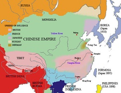 Spheres of influence in Chinese empire in early 20th century