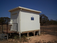 A rural telephone exchange building in Australia