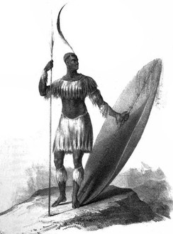 "1816: Shaka rises to power over the Zulu Kingdom. Zulu expansion was a major factor of the Mfecane (""Crushing"") that depopulated large areas of southern Africa"