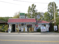 The Lake McMurray Store, established in 1889, located on SR 9 in Lake McMurray, a community located in southern Skagit County.