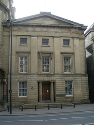 The front of the Literary and Philosophical Society building in Newcastle, designed by John Green