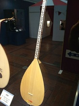 Bağlama, a traditional stringed musical instrument.