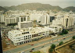 Ruwi, the main business district of Muscat