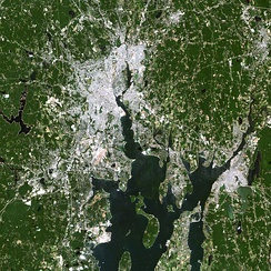Satellite photograph of greater Providence