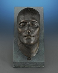 Bronze death mask of Napoleon I, modelled in 1821, cast in 1833