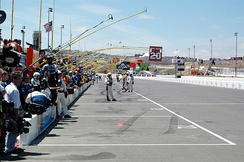 Pit road at Infineon in 2005