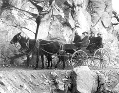 Horse and buggy passage on the Mount Wilson Trail.