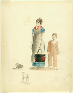 Painting of Creole Woman and Boy by Anna Maria von Phul, 1818