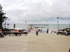 Pedestrian pier at Palanga, the most popular sea resort in Lithuania