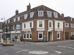A former bank branch on a corner site in the High Street