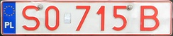 Polish testing plate from the Silesian Voivodeship