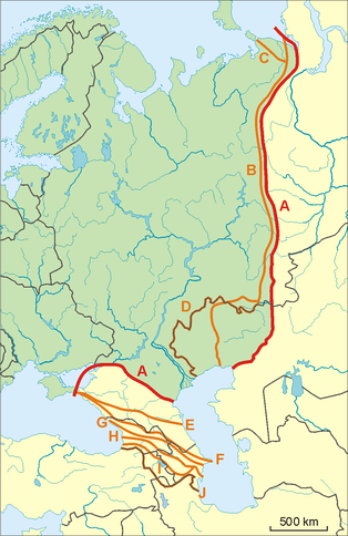Possible definitions of the boundary between Europe and Asia on the territory of Georgia, Armenia, and Azerbaijan