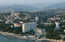 Aerial view of Sochi