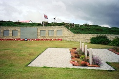 The British Military Cemetery at San Carlos on East Falkland