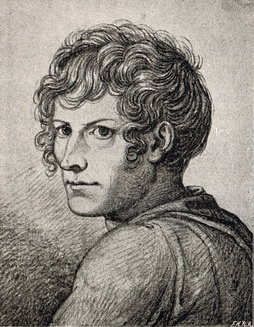 Self-portrait by Thorvaldsen while he was a student at the Royal Academy of Arts
