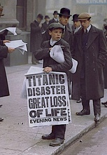 The New York Times had first gone to press Monday, 15 April with knowledge of the iceberg collision, but before knowledge of the actual sinking.[182]