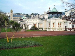 Torquay Pavilion, with St John's Church in the background