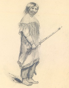 """Umpqua Indian"", drawn by Alfred Thomas Agate"