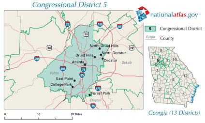 Georgia's 5th congressional district in 2010