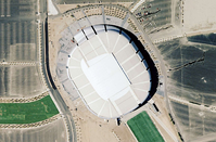 State Farm Stadium from a bird's-eye view