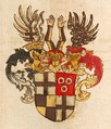 In the 16th century, officers of the order would quarter their family arms with the order's arms.[44]