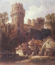 Warwick Castle, painted by William Pitt about 1870