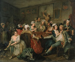 The Brothel Scene from A Rake's Progress by William Hogarth, 1735