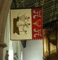 Garter Banner of the late Lord Wilson of Rievaulx, now at Jesus College Chapel, Oxford