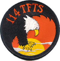 Legacy emblem of the 114th Tactical Fighter Training Squadron