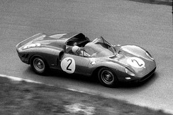 275 P2 driven by Jean Guichet at the 1965 1000 km Nürburgring