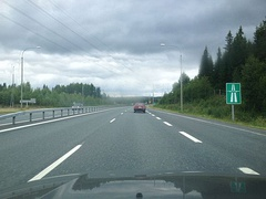National road 5 in Kuopio, Finland