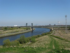 Tees Viaduct looking east towards Middlesbrough