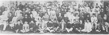 Founding conference of the All India Muslim League in Dhaka, 1906