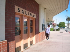 Art Deco-style Amtrak train station in Salinas