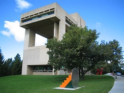 Cornell's Herbert F. Johnson Museum of Art, designed by I.M. Pei