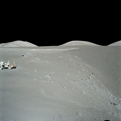 Humans explore the lunar surface