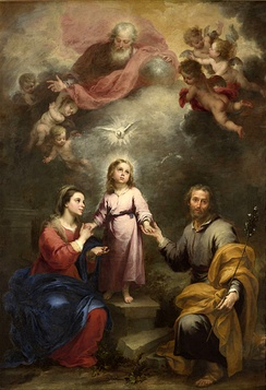 Holy Family with the Holy Spirit by Murillo, 1675–1682