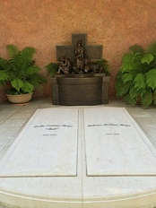 Graves of Bob and Dolores Hope, on the grounds of the Mission San Fernando Rey de Espana
